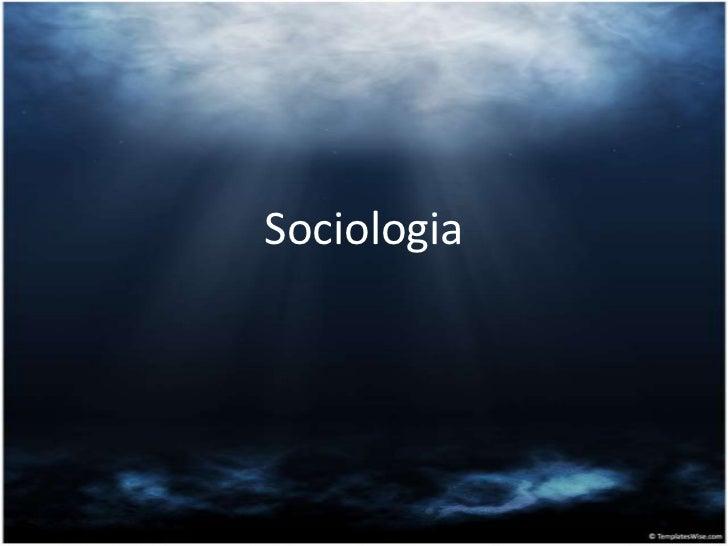 Sociologia<br />