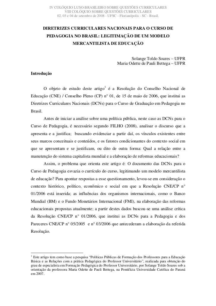 IV COLÓQUIO LUSO-BRASILEIRO SOBRE QUESTÕES CURRICULARES                       VIII COLÓQUIO SOBRE QUESTÕES CURRICULARES   ...
