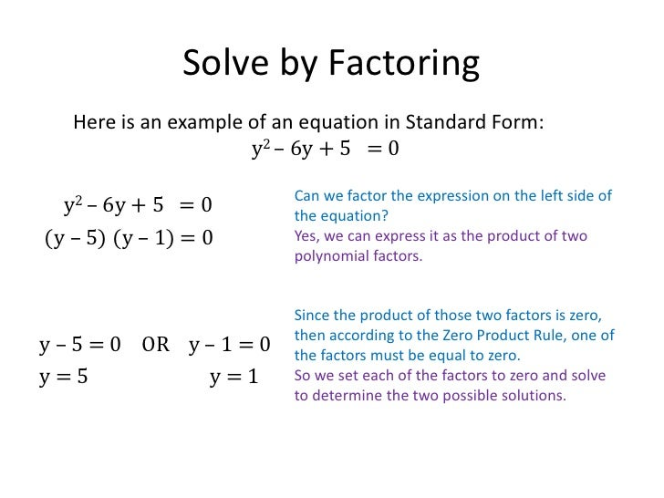 factoring method for quadratic polynomials essay Description: this slideshow walks through how to use a generic rectangle (also known as the box method or the diamond method) to factor a quadratic expression.