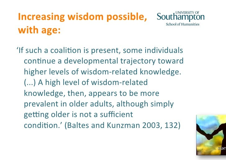 Could Ageing Brains Be Wiser? Wisdom, Heuristics and Ageing by Sophia Efstathiou