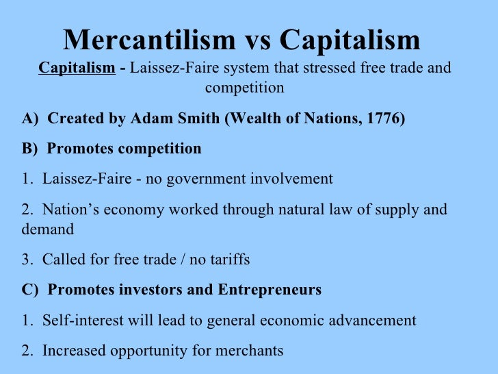 a comparison between mercantilism and physiocracy Opposite to mercantilism was the doctrine of physiocracy,  the similarities between keynesianism  mercantil rose 50 places in comparison with 2014,.