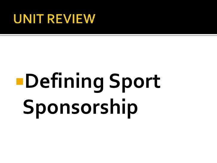 Sport Sponsorship & Media