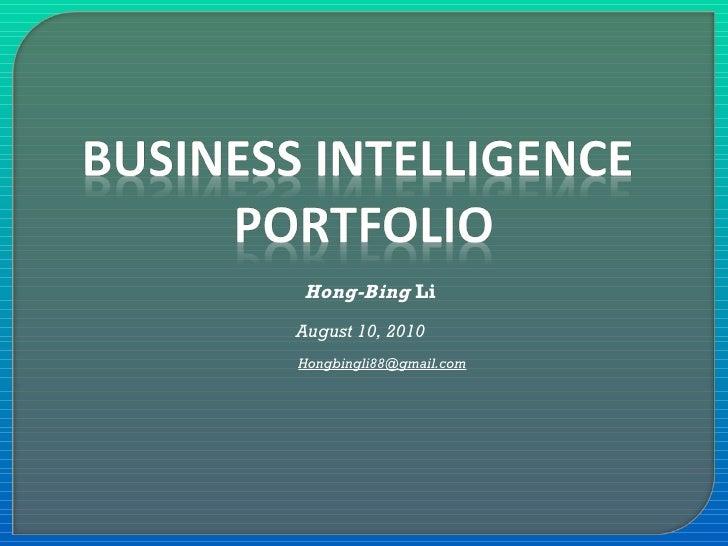Hong-Bing  Li August 10, 2010  [email_address]