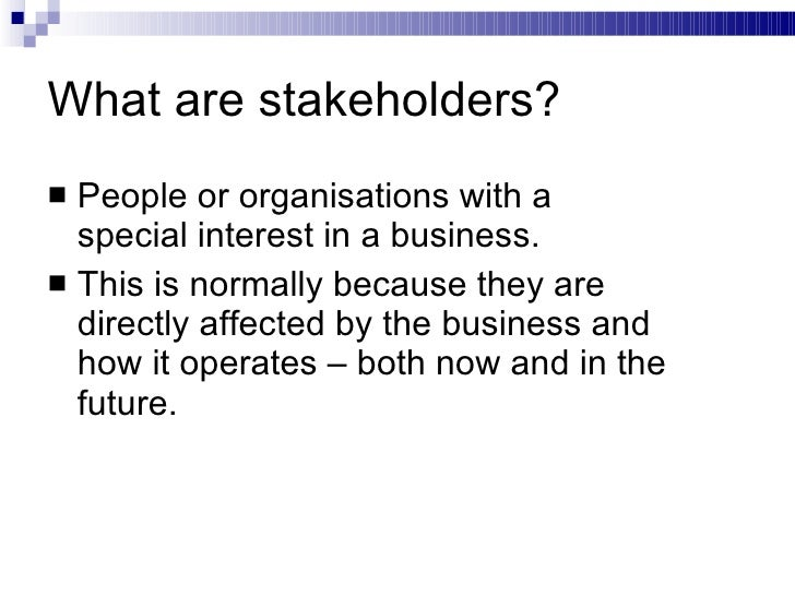 shareholders and stakeholders presentation Bsr | stakeholder engagement strategy 1 introduction a leader in corporate thought leaders and influencers from government, civil society, and the private.