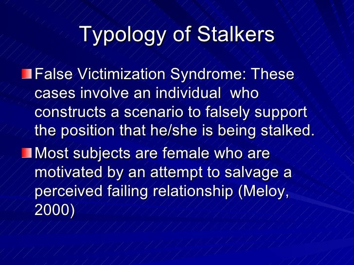 stages of stalking