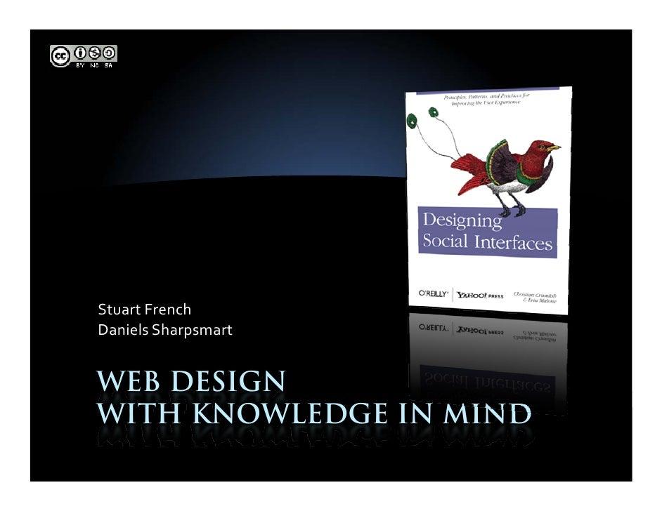 StuartFrench DanielsSharpsmart   WEB DESIGN WITH KNOWLEDGE IN MIND