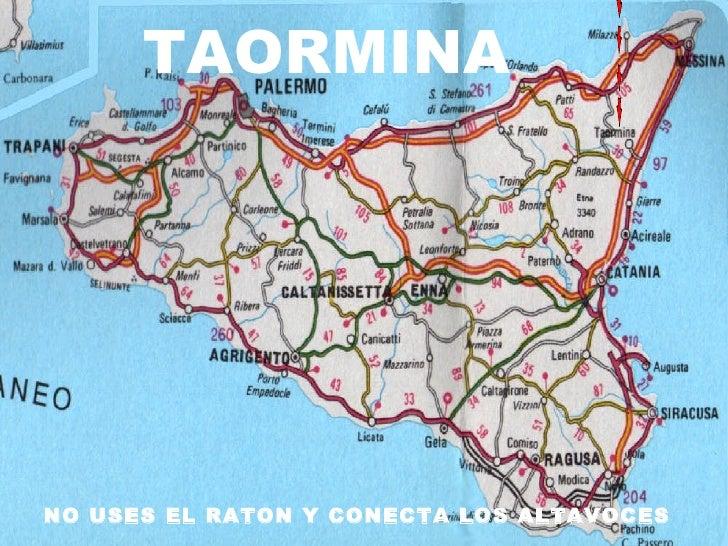 Taormina sicilia - Dimension de la sicile ...