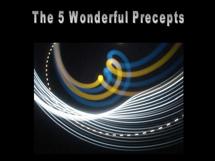 The 5 Wonderful Precepts