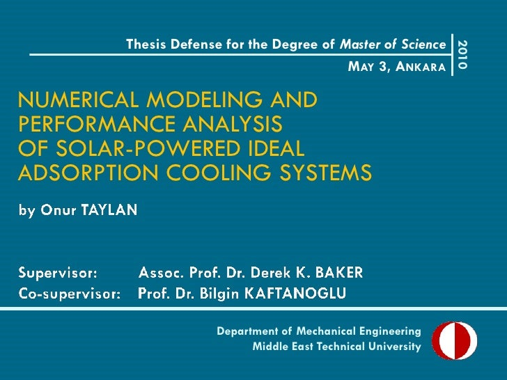 Thesis Defense for the Degree of Master of Science                                                                   2010 ...