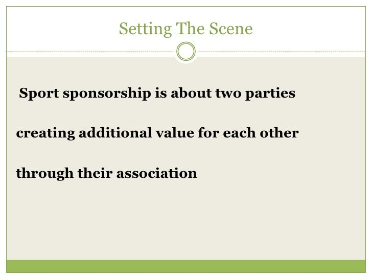 The Sponsorship Proposal