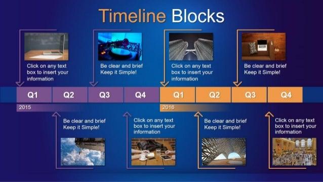 Timeline Blocks PowerPoint Template by Slideinabox