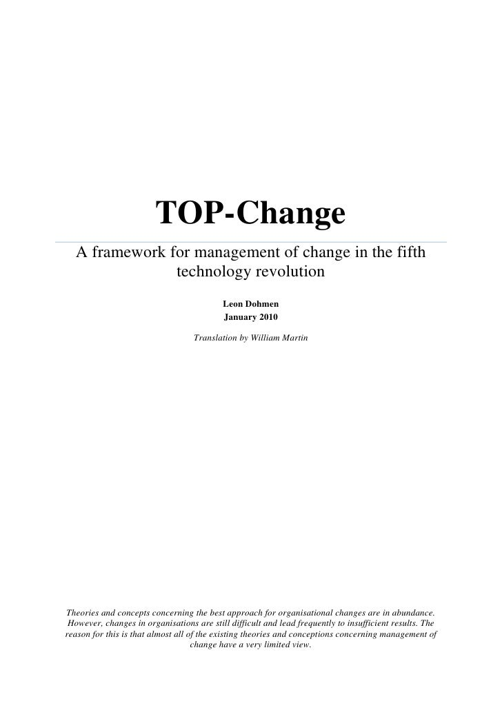 TOP-Change   A framework for management of change in the fifth                technology revolution                       ...