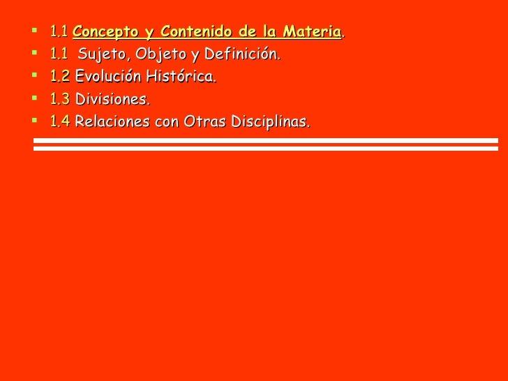 TEMA II <ul><li>2.1  Concepto y Contenido. </li></ul><ul><li>2.1   Elementos que la Integran . </li></ul><ul><li>2.3  Divi...
