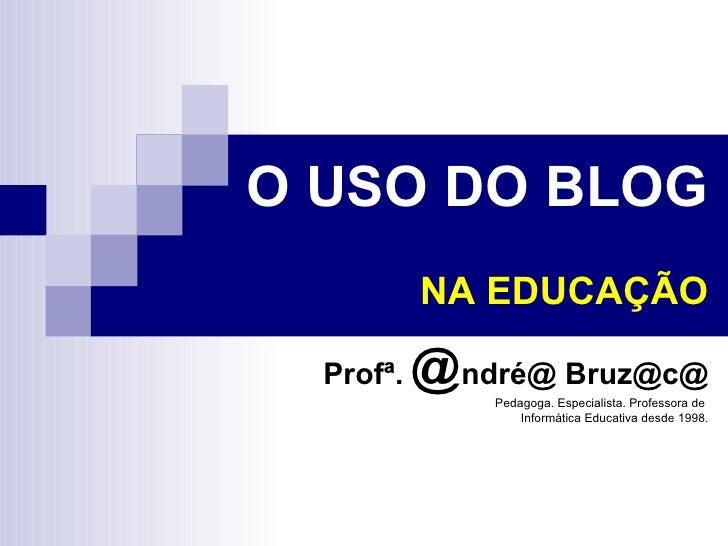 uso do blog na educação