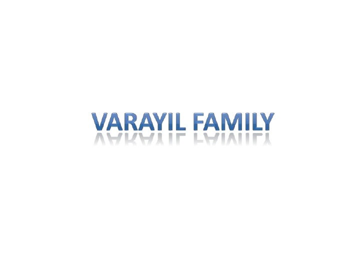 Varayil family<br />