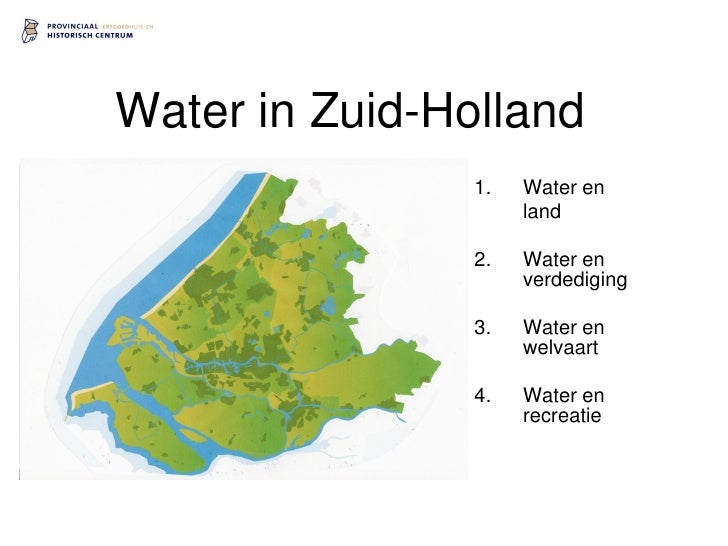 Water in Zuid-Holland                 1.   Water en                      land                  2.   Water en              ...