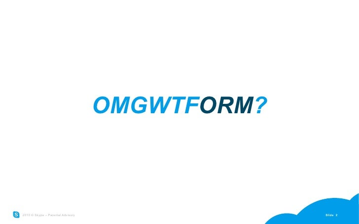 Why not ORM Slide 2