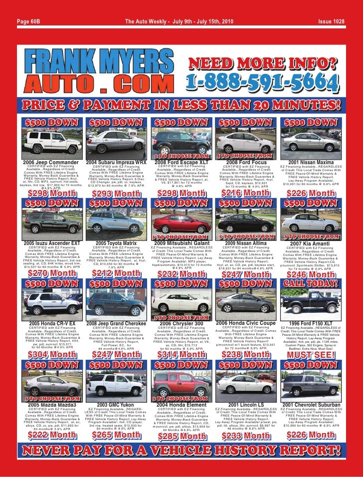 Winston-Salem, NC Used Cars Specials - July of 2010 - Page 1