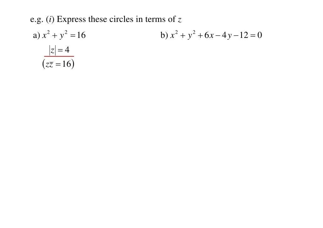 locus of complex numbers pdf