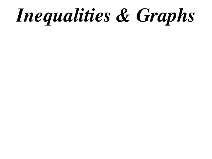 Inequalities & Graphs