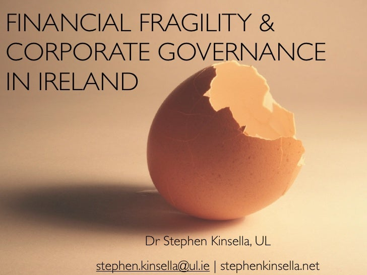 Corporate Governance and Financial Fragility in Ireland