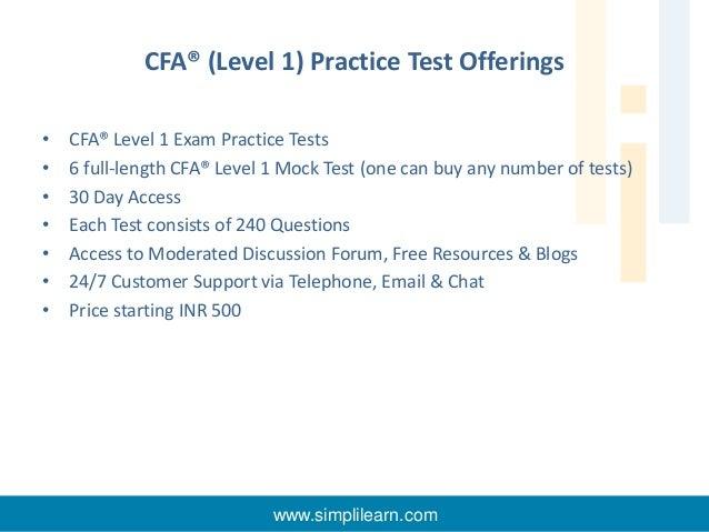 CFA Level I training by Simplilearn