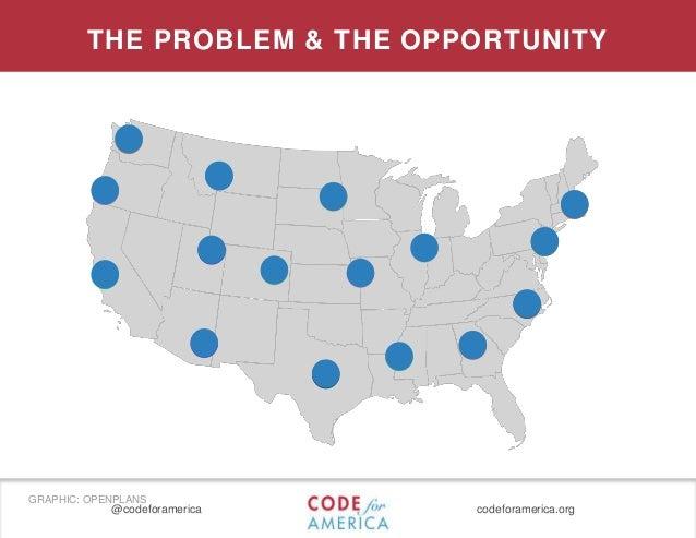 @codeforamerica codeforamerica.org THE PROBLEM & THE OPPORTUNITY GRAPHIC: OPENPLANS