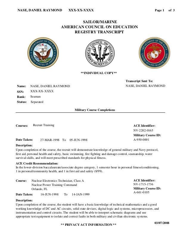 Navy Smart Transcript