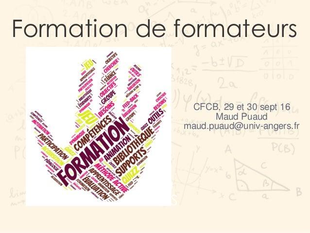 Formation de formateurs 3000 BOOKS 1343 Graduates CFCB, 29 et 30 sept 16 Maud Puaud maud.puaud@univ-angers.fr