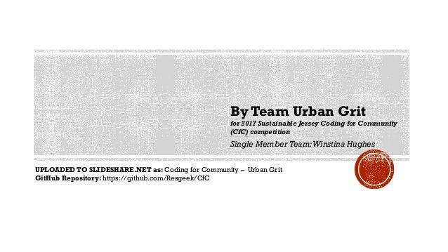 Coding for Community - Team Urban Grit