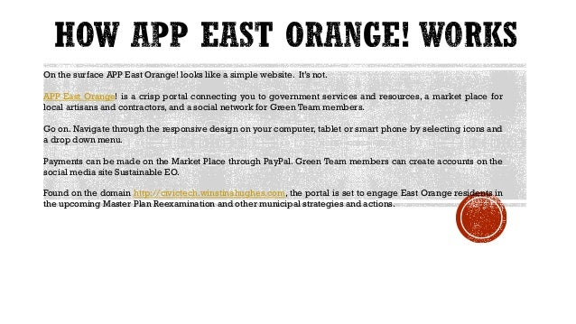 The portal has been designed as a drop down menu with links requested by the City of East Orange. Some content for these w...