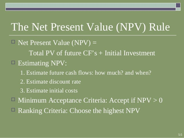 evaluate investment appraisal of payback period and net present value A study on investment appraisal and profitability  cost benefit, efficiency, investment, net present value  payback period: the payback period is the period of time in which capital outlay.
