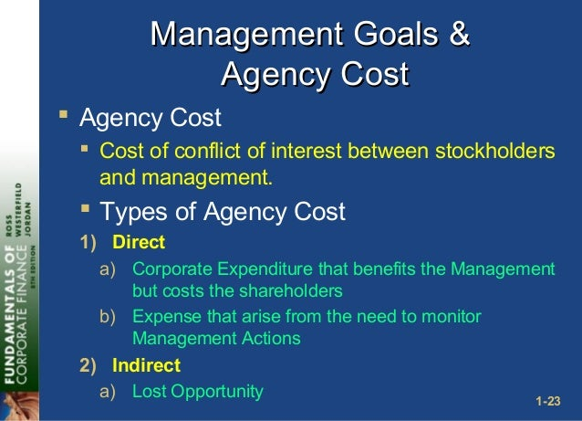 according to the agency problem _________ represent the principals of a corporation The principal-agent problem arises primarily because: a principals and agents share a common interest, leading to free-rider problems the individual firm in a purely competitive labor market faces.