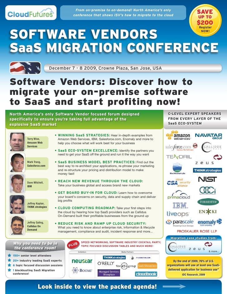 From on-premise to on-demand! North America's only                                           conference that shows ISV's h...