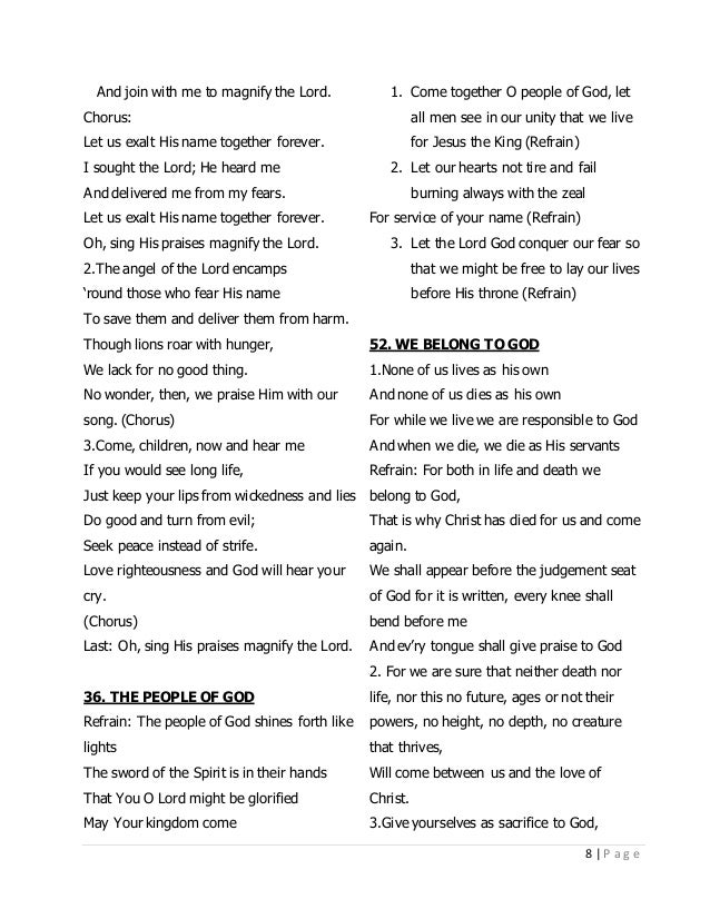 Lyric learning to lean lyrics : CFC CHRISTIAN SONGS LYRICS
