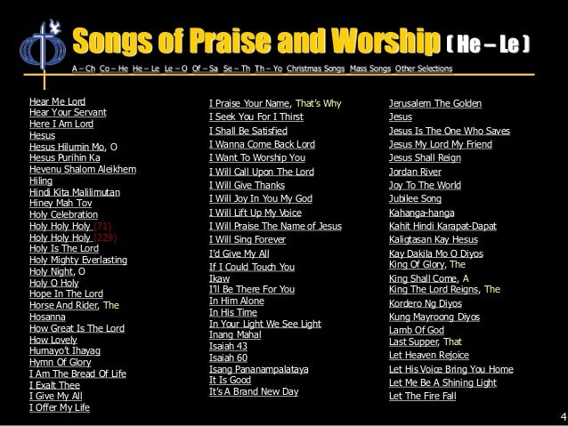 CFC Songs of Praise and Worship