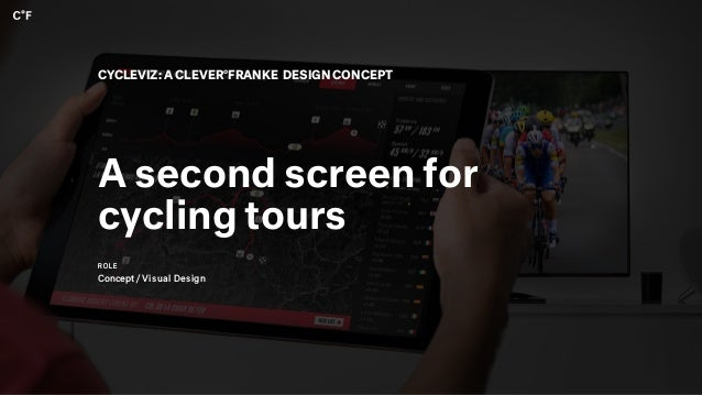 A second screen for cycling tours CYCLEVIZ: A CLEVER°FRANKE DESIGN CONCEPT ROLE Concept / Visual Design