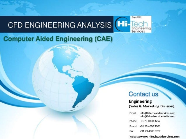 CFD ENGINEERING ANALYSISComputer Aided Engineering (CAE)                                   Contact us                     ...