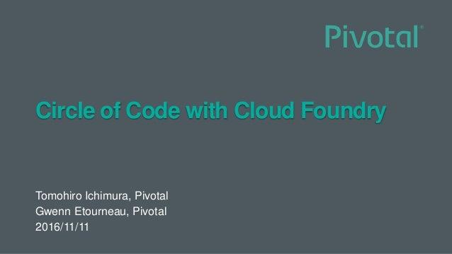 Circle of Code with Cloud Foundry Tomohiro Ichimura, Pivotal Gwenn Etourneau, Pivotal 2016/11/11