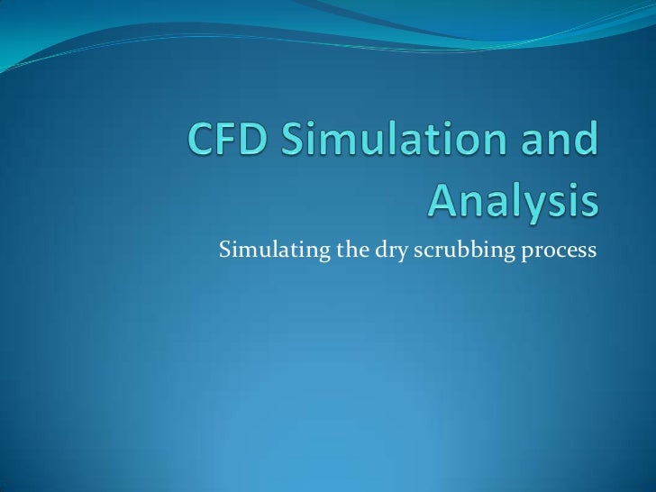 Simulating the dry scrubbing process