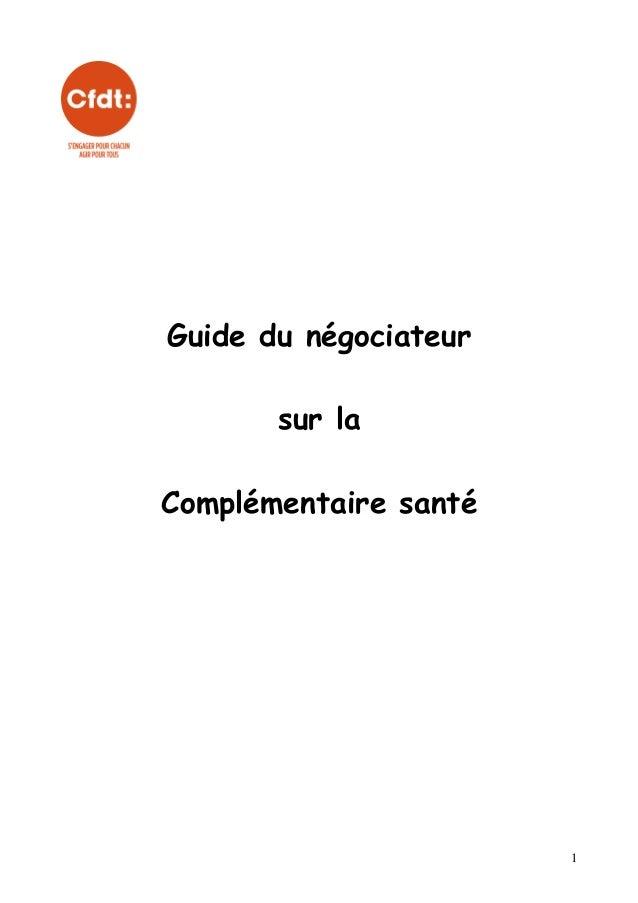 Guide du négociateur sur la Complémentaire santé  1
