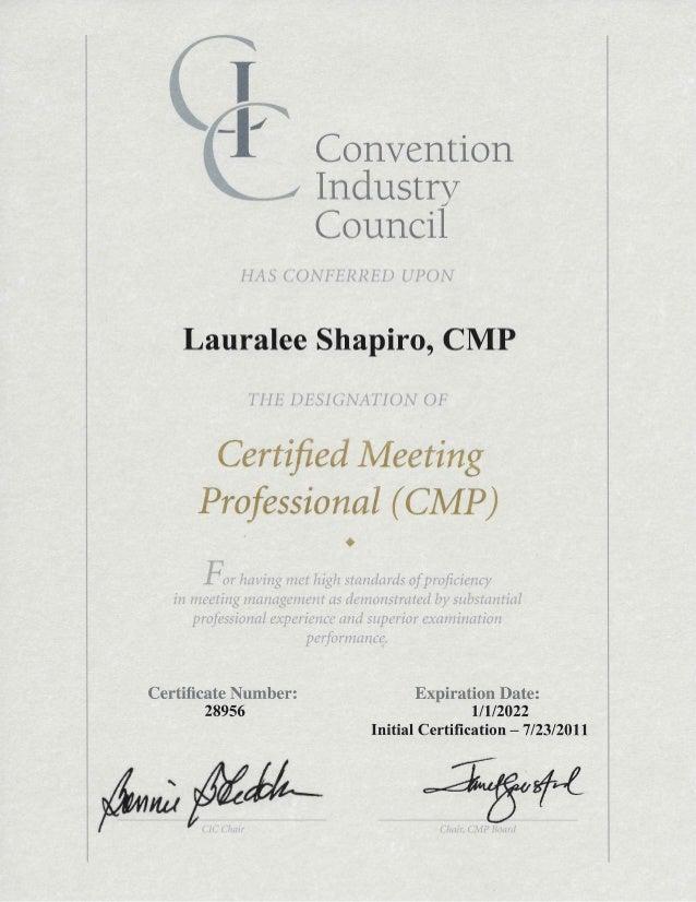 Cmp Certificate 2016 2022