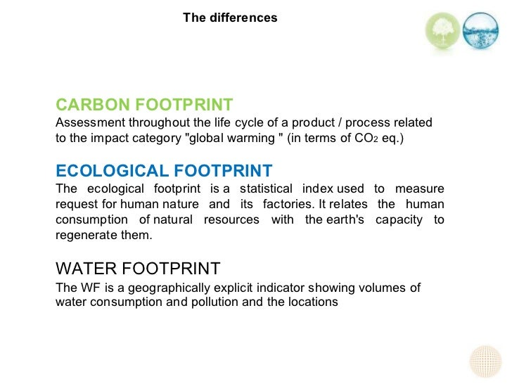 the use of ecological footprinting An ecological footprint is the impact of a person or community on the environment , expressed as the amount of land and sea required to support their use.