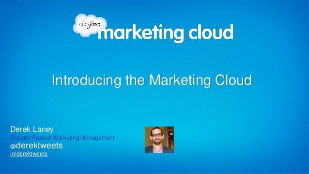in/derektweets @derektweets Derek Laney Director Product Marketing Management Introducing the Marketing Cloud