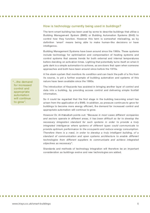 intelligent building essay Request pdf on researchgate   intelligent building research: a review   within the last two decades, substantial amount of literature on intelligent building has been generated however, there is.