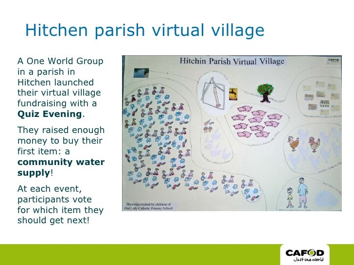 Hitchen parish virtual village A One World Group in a parish in Hitchen launched their virtual village fundraising with a ...