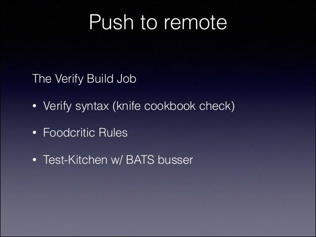 Kitchen Test Vs Verify