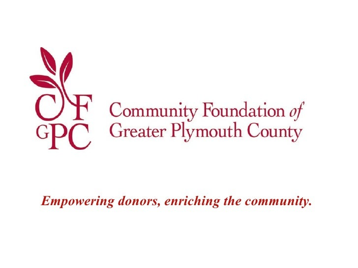 Empowering donors, enriching the community .