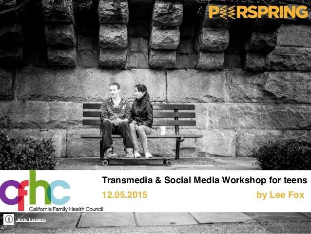 Joris Louwes Transmedia & Social Media Workshop for teens 12.05.2015 by Lee Fox