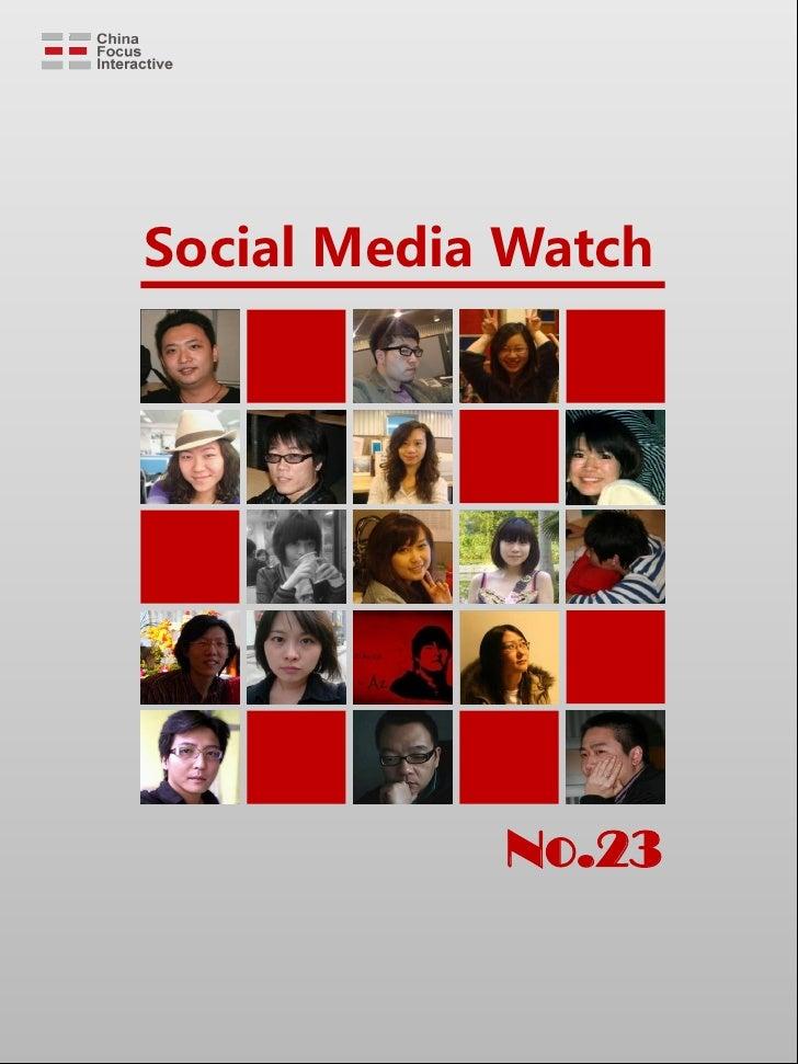 Social Media Watch                 No.23